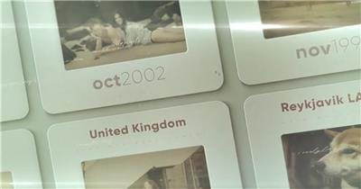 AE:复古墙贴卡片幻灯片ae特效素材下载网站