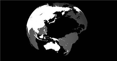 旋转的地球 水墨版震撼