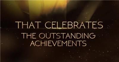 AE:金色颁奖栏目包装模板ae特效素材下载网站