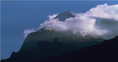 西藏雪山中国名胜风景标志性景点高清视频素材