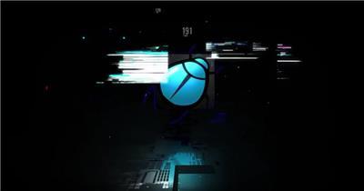 AE:故障效果标志片头ae特效素材下载网站