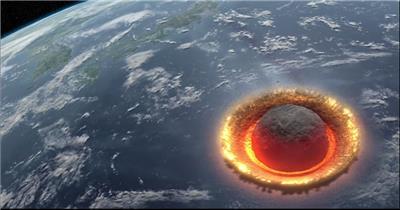 自然景观类星球撞地球壮观演示_batch中国高清实拍素材宣传片
