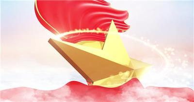 少年强中国强少先队儿童节晚会片头模板