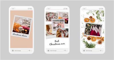 AE:手机端圣诞视频包ae特效素材下载网站