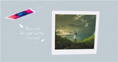 AE:照片浮动甜蜜回忆相册开场ae特效素材下载网站
