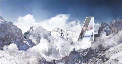 大气云层山峰企业形象时间轴宣传AE模板