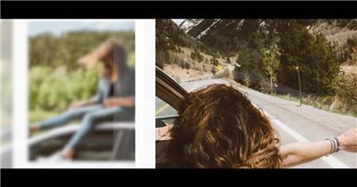 Pr模板 Premiere旅游度假周年纪念日照片展示电子相册模板 图文模板