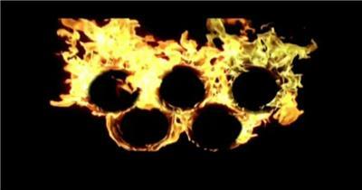 火焰烧火King-_奥运五环 燃烧 LED动态视频背景大全