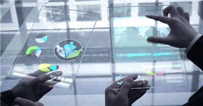 SPHJ-216-互联网-商务会议合作会谈科技信息化智能数据分析签字握手高清视频拍摄