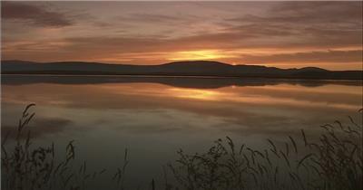 夕阳下的自然风光中国名胜风景标志性景点高清视频素材