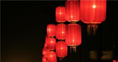 实景拍摄山西特色节日红灯笼视频