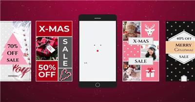 AE:手机端圣诞视频ae特效素材下载网站