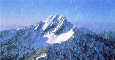 台湾风光下雪背景为雪山特别壮观_batch中国高清实拍素材宣传片