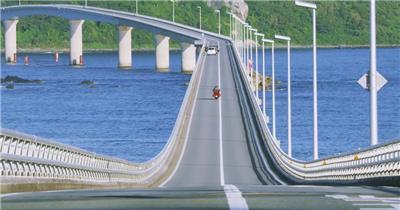 日本跨海大桥壮观背景视频