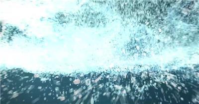 蓝色大气科技感企业年会片头AE模板