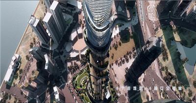 上海商业中心 三维房地产动画形象宣传片 建筑漫游 建筑动画三维游历房地产动画 建筑三维动画