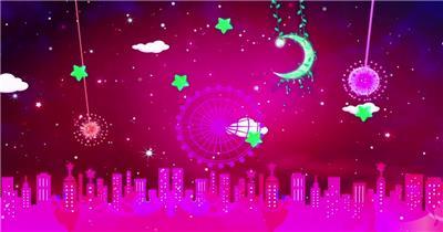 星星月亮 款A20019粉红月亮摩天轮无音乐_batch led视频背景下载