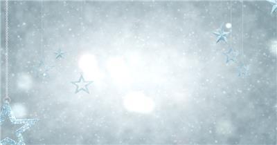 唯美梦幻的圣诞星星挂饰素材 SilverOrnamentsHD 视频素材下载