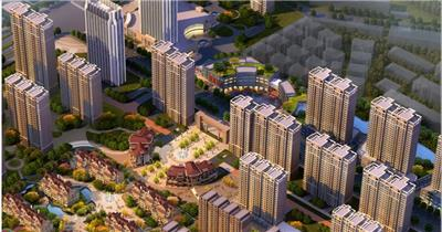 聊城李太屯项目 三维房地产动画形象宣传片 建筑漫游 三维游历房地产动画 建筑三维动画