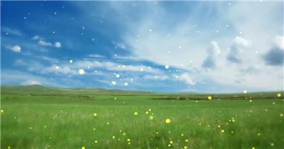 -草原蒙古包款D2378草原蒙古包雪山夕阳民族舞蹈晚会