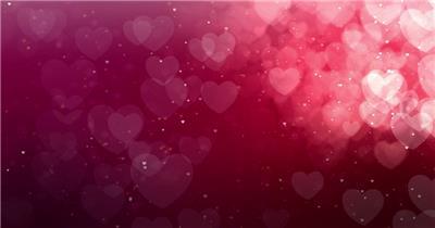 粉色爱心粒子素材    VT024K_batch 视频素材下载