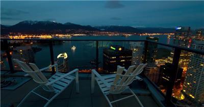 美丽的城市夜景延时摄影