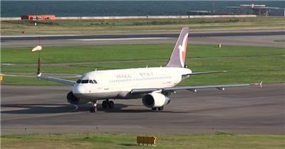实拍飞机场飞机起飞的视频宣传片视频