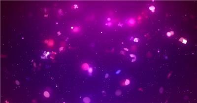 绚丽光效粒子唯美花瓣落下浪漫婚礼视频