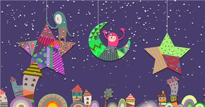 星星月亮 款A20001儿童梦幻星月童话乐园无音乐