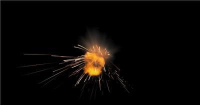 -带通道的火花四溅的特效素材.带通道的火花四溅的特效素材.CouchHit04