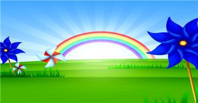 缤纷夏日彩虹主题的素材  RainbowRisingSD 视频素材下载