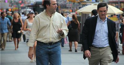 繁荣城市街道人们忙碌生活节奏人流密集街景高清视频拍摄