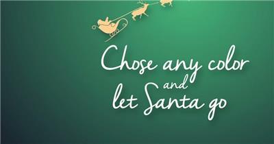 AE:AE圣诞老人雪橇动画片头 ae素材下载17 ae片头ae模板 片头视频素材 视频片头 片头素材