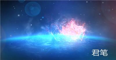 PR:LOGO片头 pr片头 LG-11 蓝色宇宙星空科技Logo标志展示 pr素材 pr模版  adobe Premiere素材 premiere视频模板 premiere模板