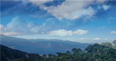 唯美自然风光农田乡村蓝天白云高清实拍