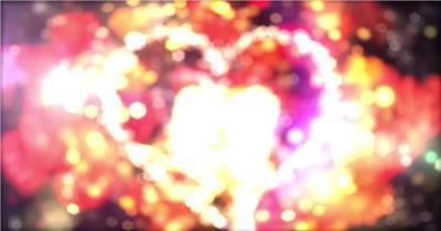 柔美心形粒子波纹妇女节主题视频3