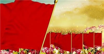 歌颂祖国 款A0393阳光路上和平鸽花海歌唱祖国有音乐