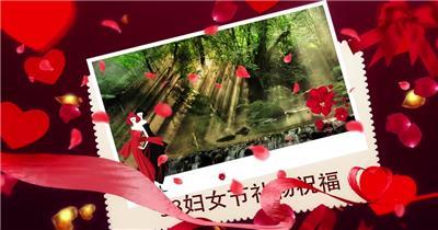 红色优雅浪漫妇女节主题视频模板