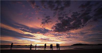 热带海滩的日落 Tropical Beach Sunset 高清视频全集_batchStoc Video高清视频素材下载 led视频背景 led下载