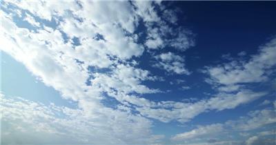 蓝天白云高清延时实拍