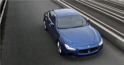 魅力完美展现玛莎拉蒂汽车成功人士驾驶奔跑美姿宣传高清视频实拍