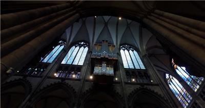 欧式建筑独特典雅梦幻古堡气息文化特色大教堂高清视频实拍