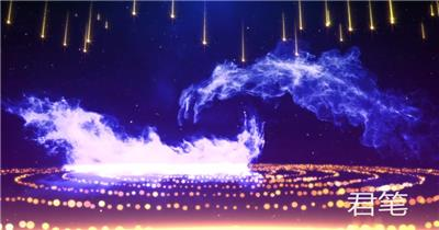 pr 年会晚会颁奖NH-04 震撼大气粒子企业年会颁奖开场片头 pr素材 pr模版  adobe Premiere素材 premiere视频模板 premiere模板