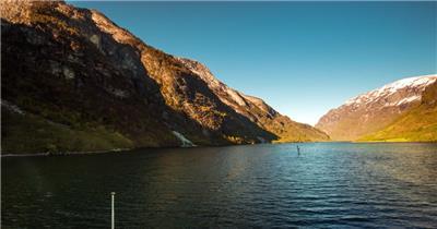 在船上看到的风景素材    Fjordboatrideone 视频素材下载