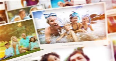 14004 美好回忆相册照片墙开场ae免费模板素材 ae素材