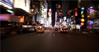 驰骋在城市广场的夜晚素材        timessquarenightmaster 视频素材下载