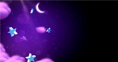 星星月亮 款A20018星星五角星弯月紫色背景无音乐_batch led视频背景下载