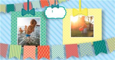 13379 儿童相册展示 ae特效素材免费