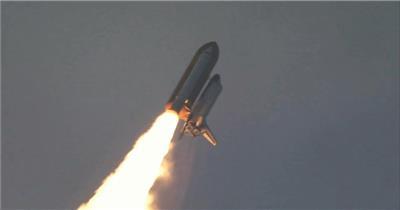 航天局发射火箭升空人造卫星飞船突破云层穿越地球高清视频实拍