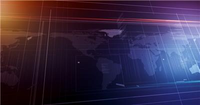 世界地图背景循环素材  GlobalSpanSD 视频素材下载